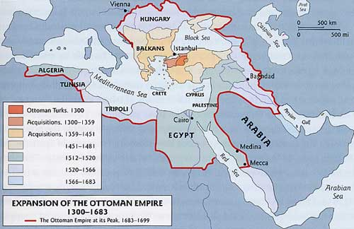 ottoman empire map timeline 1